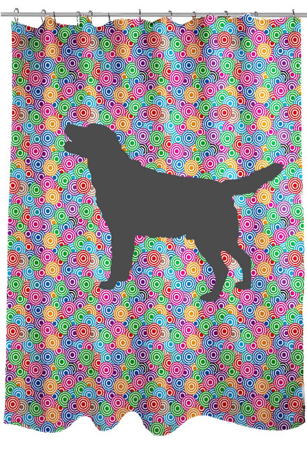 Righteous Hound - Circle Lab Shower Curtain
