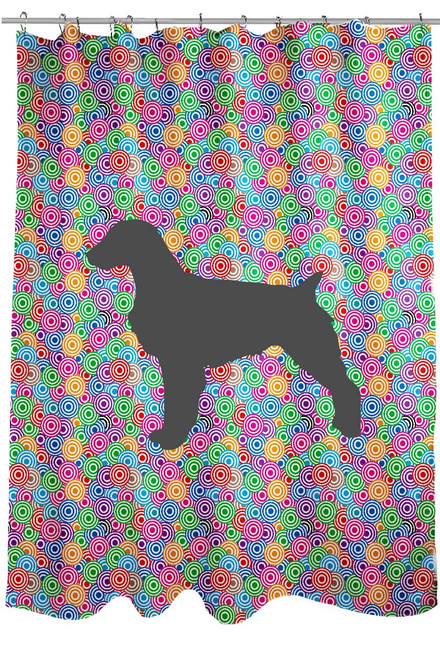 Righteous Hound - Circle Brittany Shower Curtain