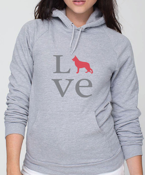 Righteous Hound - Unisex Love German Shepherd Hoodie