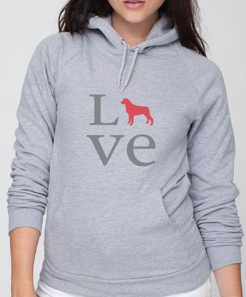 Righteous Hound - Unisex Love Rottweiler Hoodie