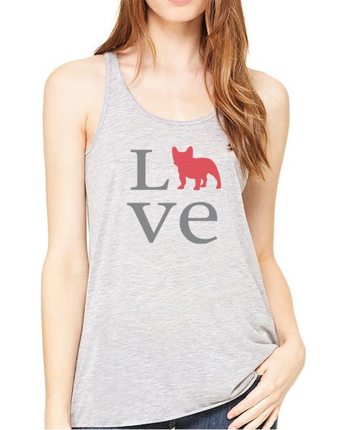 Righteous Hound - Flowy Love French Bulldog Tank