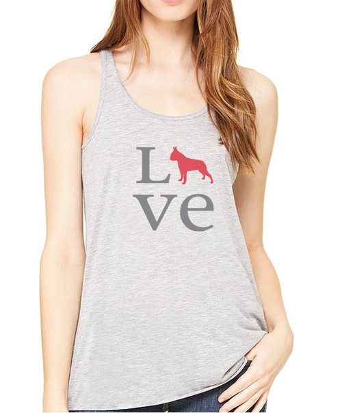 Righteous Hound - Flowy Love Boston Terrier Tank