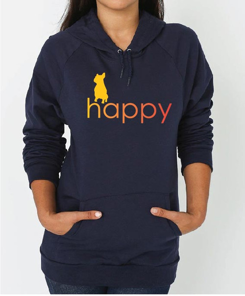 Righteous Hound - Unisex Happy French Bulldog Hoodie