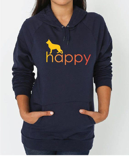 Righteous Hound - Unisex Happy German Shepherd Hoodie
