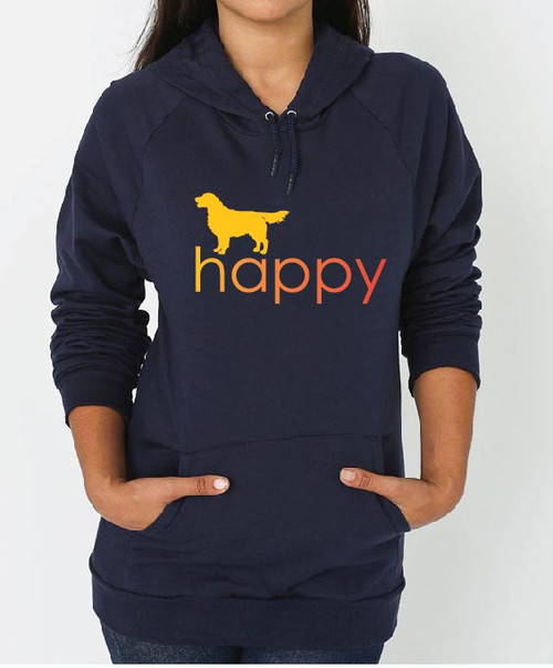 Righteous Hound - Unisex Happy Golden Retriever Hoodie