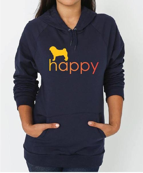 Righteous Hound - Unisex Happy Pug Hoodie