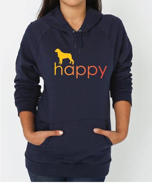 Righteous Hound - Unisex Happy Rottweiler Hoodie