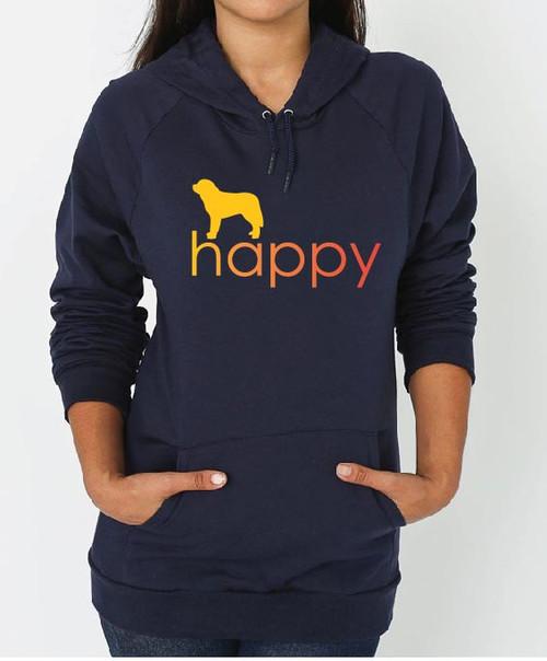 Righteous Hound - Unisex Happy Saint Bernard Hoodie