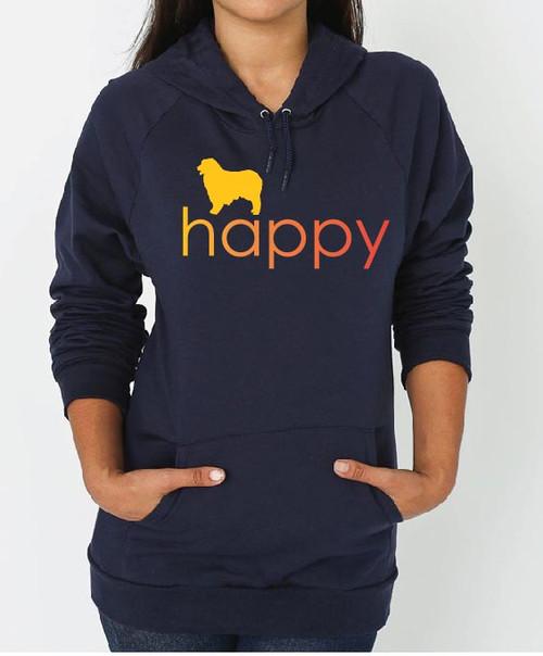 Righteous Hound - Unisex Happy Australian Shepherd Hoodie