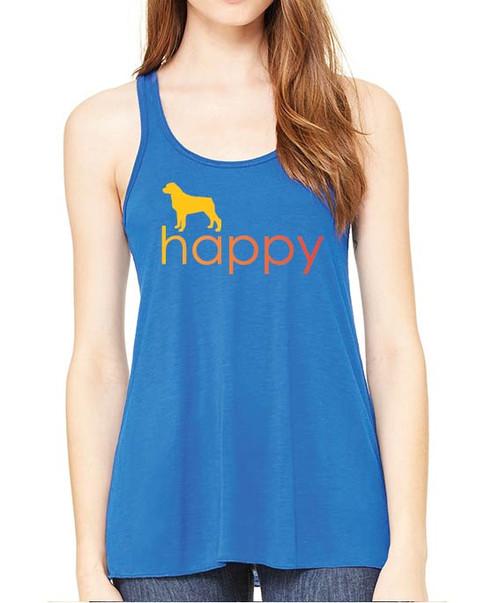 Righteous Hound - Flowy Happy Rottweiler Tank