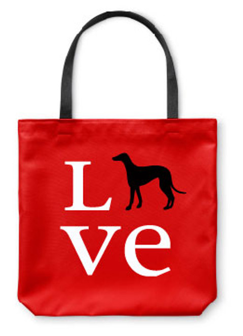Righteous Hound - Love Greyhound Tote Bag