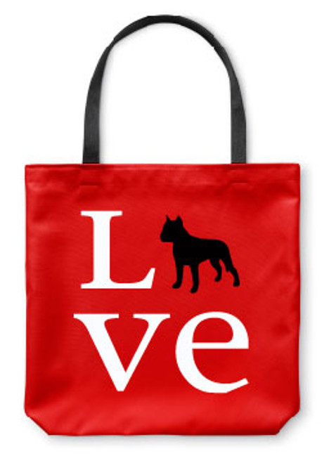 Righteous Hound - Love Staffordshire Terrier Tote Bag