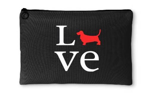 Basset Hound Love Accessory Pouch