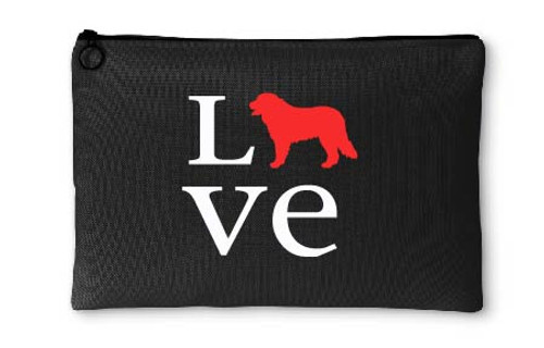 Bernese Mountain Dog Love Accessory Pouch