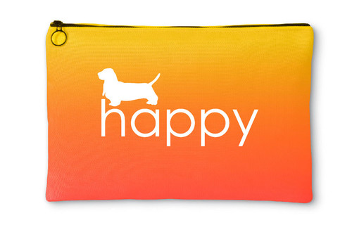 Righteous Hound - Happy Basset Hound Accessory Pouch