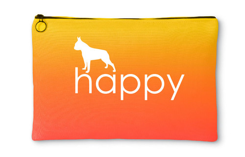 Righteous Hound - Happy Boston Terrier Accessory Pouch