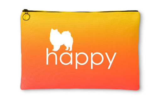 Righteous Hound - Happy American Eskimo Dog Accessory Pouch