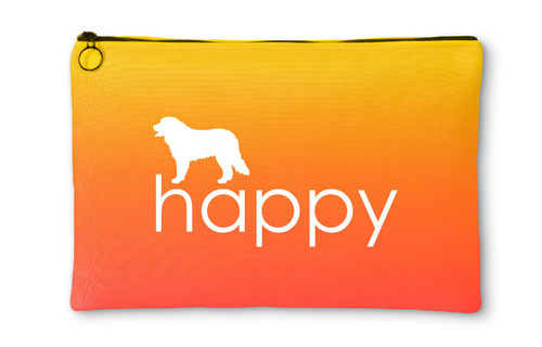Bernese Mountain Dog Happy Accessory Pouch