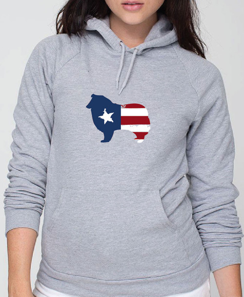 Righteous Hound - Unisex Patriot Collie Hoodie