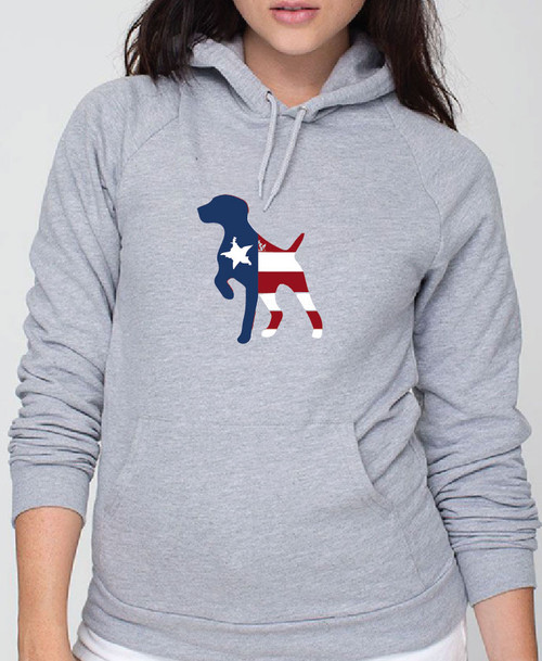 Righteous Hound - Unisex Patriot German Shorthaired Pointer Hoodie