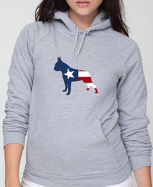 Righteous Hound - Unisex Patriot Boston Terrier Hoodie