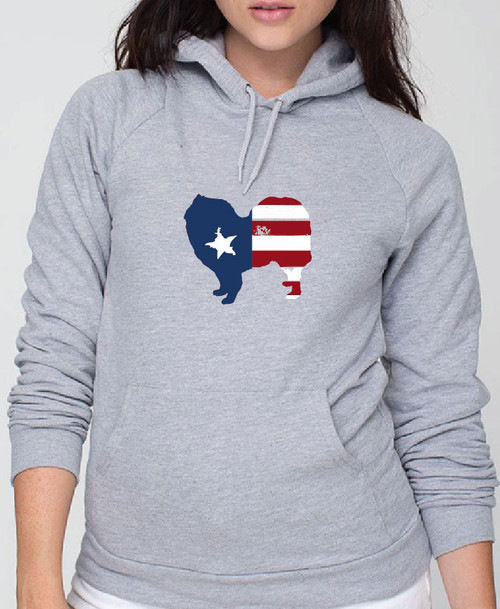 Righteous Hound - Unisex Patriot Samoyed Hoodie