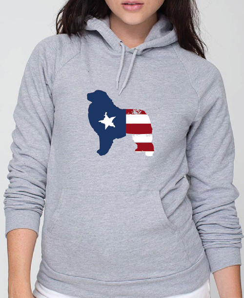 Righteous Hound - Unisex Patriot Great Pyrenees Hoodie