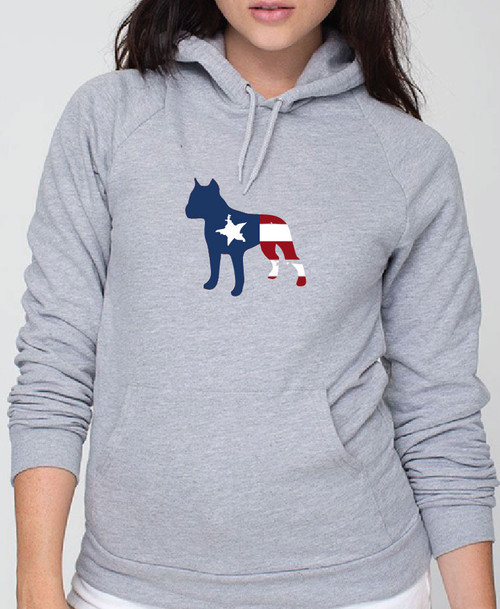 Righteous Hound - Unisex Patriot Staffordshire Terrier Hoodie