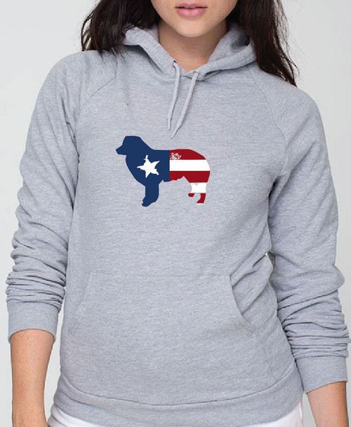 Righteous Hound - Unisex Patriot Border Collie Hoodie