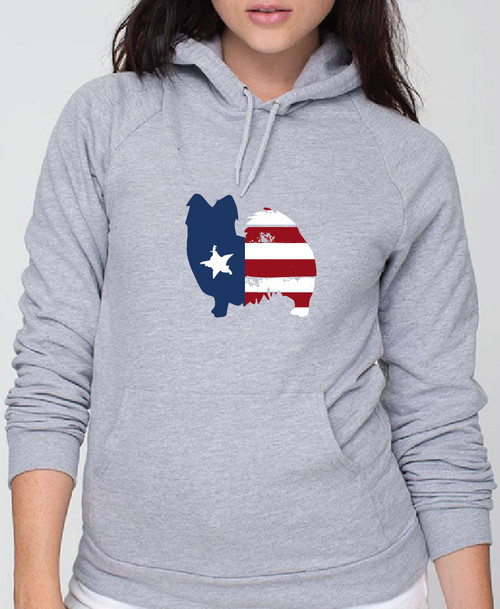 Righteous Hound - Unisex Patriot Papillon Hoodie