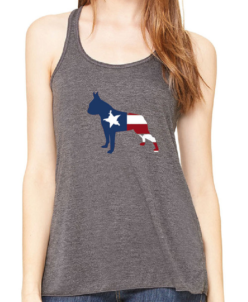 Righteous Hound - Flowy Patriot Boston Terrier Tank