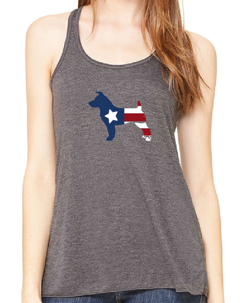Righteous Hound - Flowy Patriot Jack Russell Tank