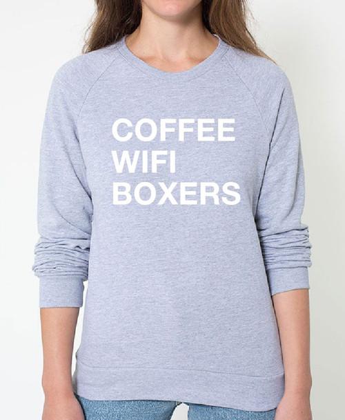 Boxer Coffee Wifi Sweatshirt