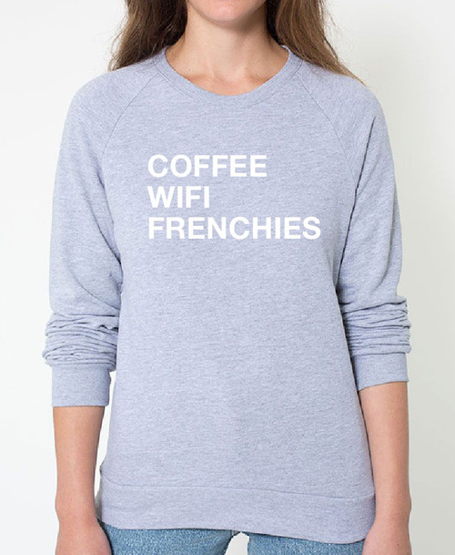 French Bulldog Coffee Wifi Sweatshirt