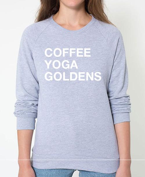 Golden Retriever Coffee Yoga Sweatshirt