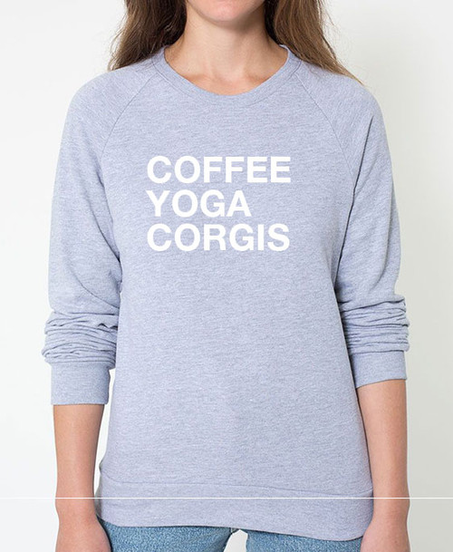 Corgi Coffee Yoga Sweatshirt