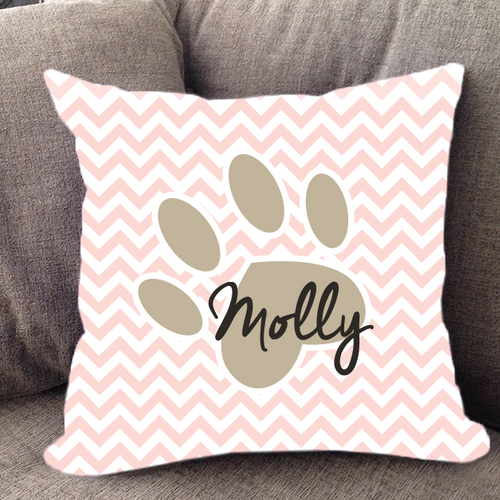 Custom Paw Print Pillow
