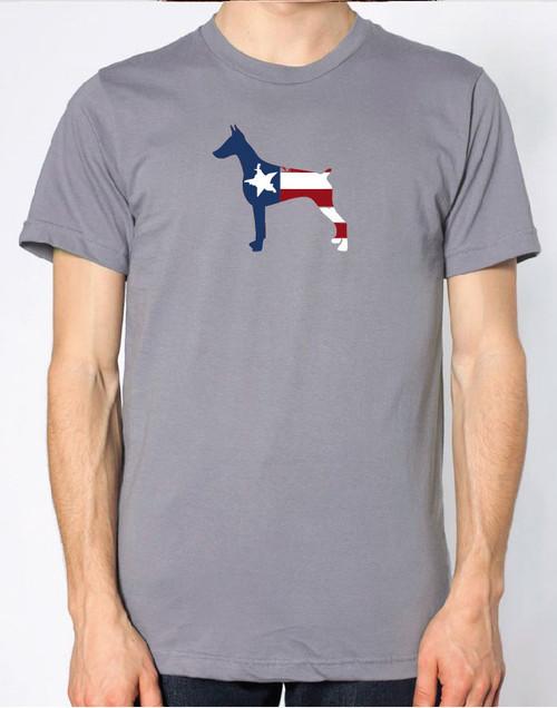 Righteous Hound - Men's Patriot Doberman T-Shirt