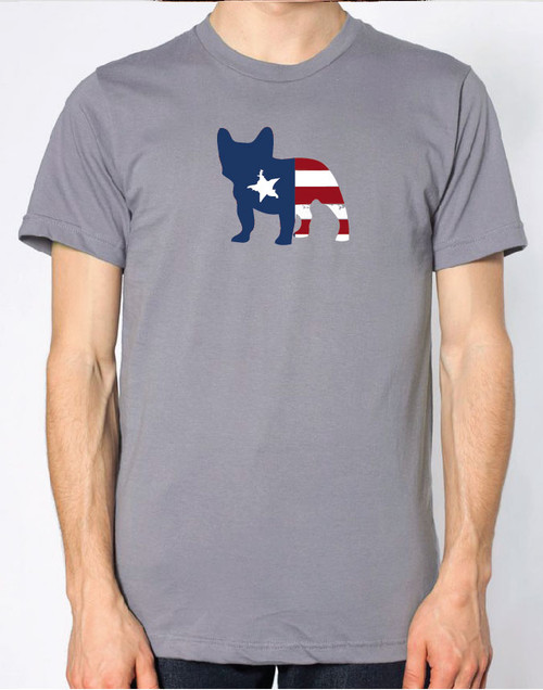 Righteous Hound - Men's Patriot French Bulldog T-Shirt