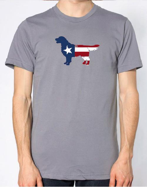 Righteous Hound - Men's Patriot Golden Retriever T-Shirt