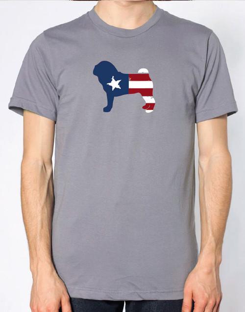 Righteous Hound - Men's Patriot Pug T-Shirt