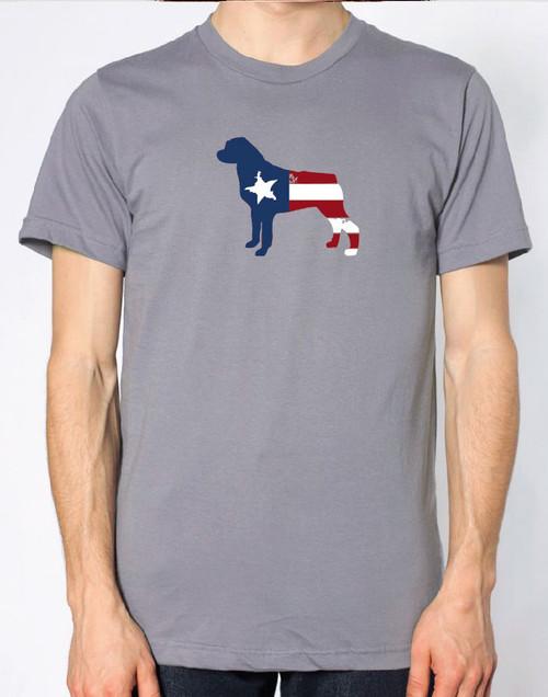 Righteous Hound - Men's Patriot Rottweiler T-Shirt