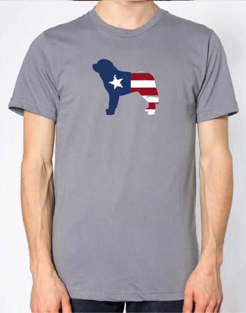Righteous Hound - Men's Patriot Saint Bernard T-Shirt