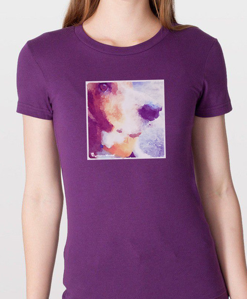 Righteous Hound - Women's Watercolor Basset Hound Tee