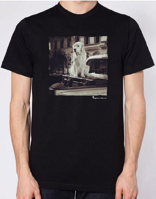 Righteous Hound - Men's Varsity Golden Retriever T-Shirt