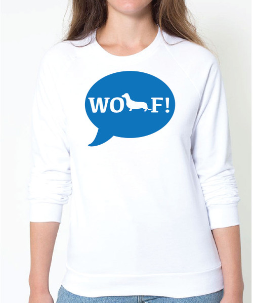 Righteous Hound - Unisex WOOF! Dachshund Sweatshirt