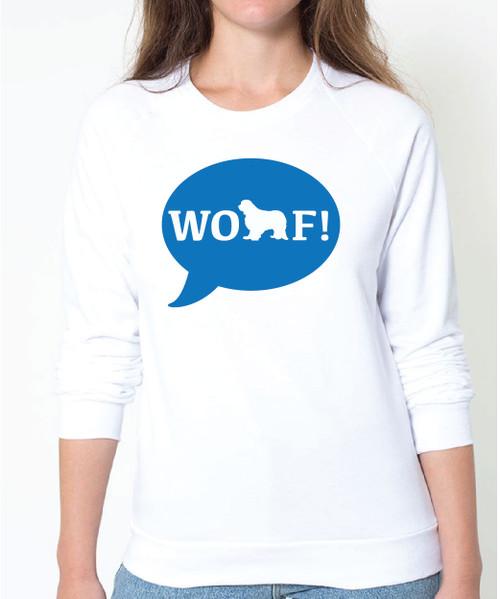 Righteous Hound - Unisex WOOF! Cavalier King Charles Spaniel Sweatshirt
