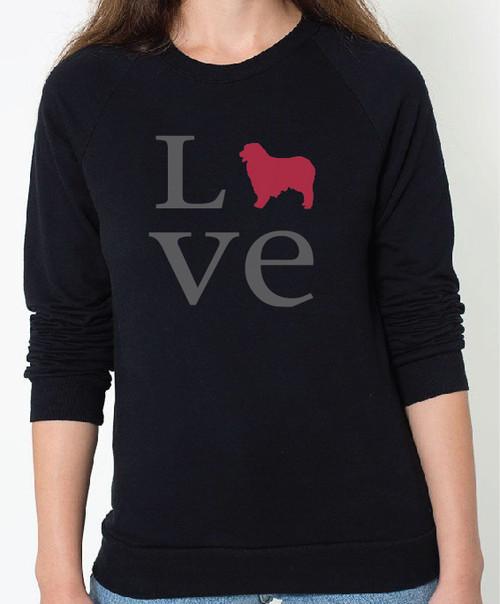 Unisex Love Australian Shepherd Sweatshirt
