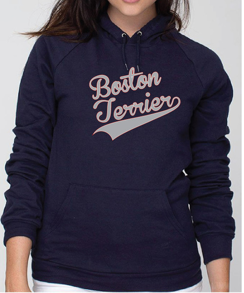 Righteous Hound - Unisex Varsity Boston Terrier Hoodie