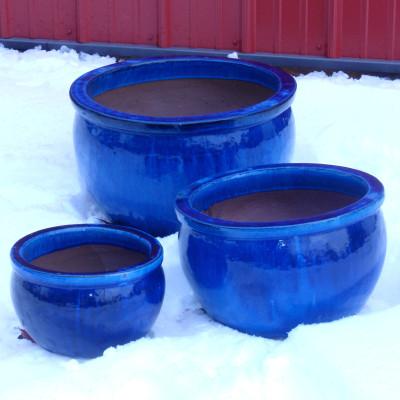 "Blue Ceramic Pot - 7"""